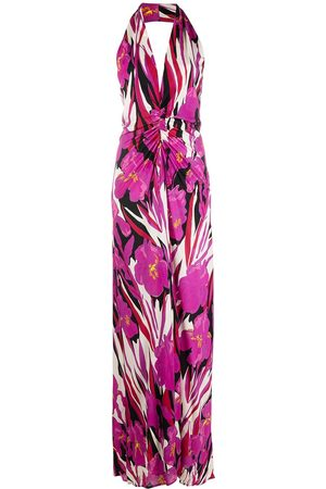 La DoubleJ Crystal halterneck maxi dress