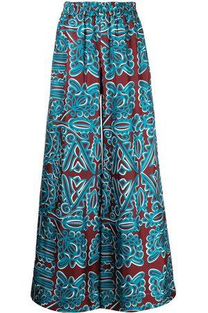 La DoubleJ Women Wide Leg Pants - All-over print palazzo trousers