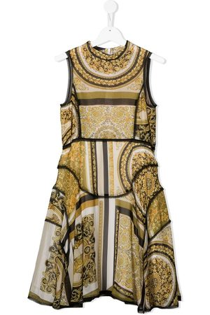 VERSACE Women Printed Dresses - Barocco-print sleeveless dress