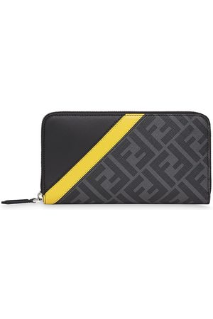 Fendi Zip around leather wallet - Grey