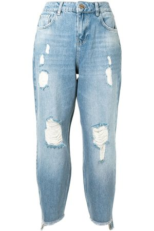Twin-Set High-rise cropped jeans