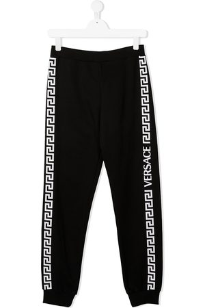 VERSACE Logo-tape track trousers