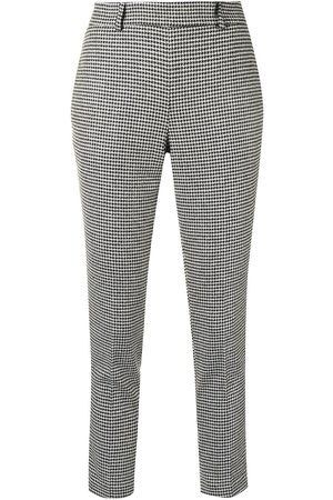 Twin-Set Houndstooth tapered trousers - Multicolour