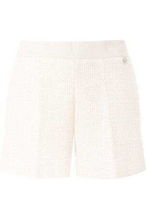 Twin-Set Tweed pleated shorts