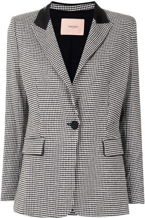Twin-Set Single-breasted houndstooth blazer - 5613