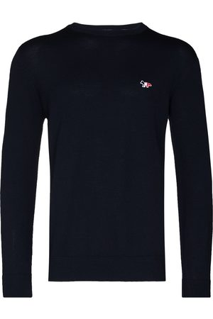 Maison Kitsuné Embroidered logo wool jumper