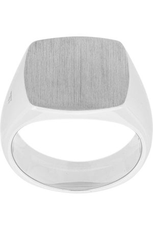 TOM WOOD Cushion signet ring - Metallic