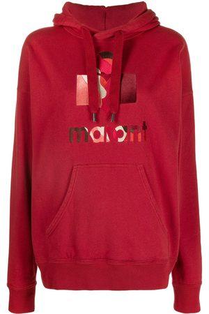 Isabel Marant Embroidered logo drawstring hoodie