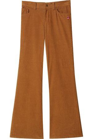 Marc Jacobs Women Wide Leg Pants - Corduroy flared trousers