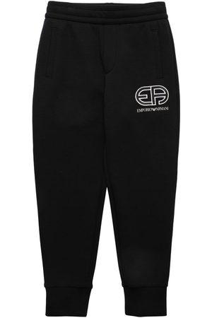Emporio Armani Cotton Sweatpants W/ Logo