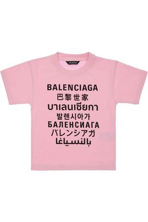 Balenciaga Printed Cotton Jersey S/s T-shirt