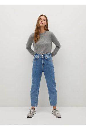 MANGO Women Straight - Waist straight Slouchy jeans