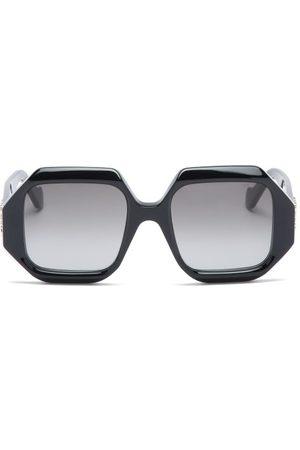 Loewe Story Hexagonal Acetate Sunglasses - Womens