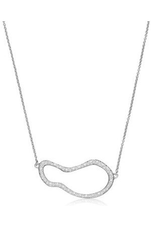Monica Vinader Women Necklaces - Sterling Silver Riva Pod Necklace Diamond