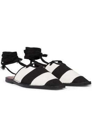 ZIMMERMANN Striped canvas slippers