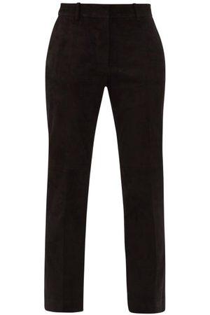 Joseph Coleman Straight-leg Suede Trousers - Womens
