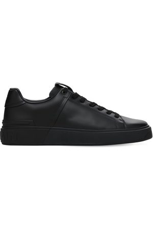 Balmain B Court Leather Low Top Sneakers