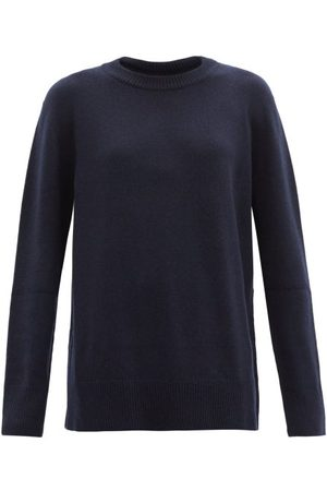 The Row Sibel Wool-blend Sweater - Womens - Navy