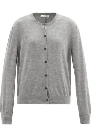 The Row Battersea Round-neck Cashmere Cardigan - Womens - Grey