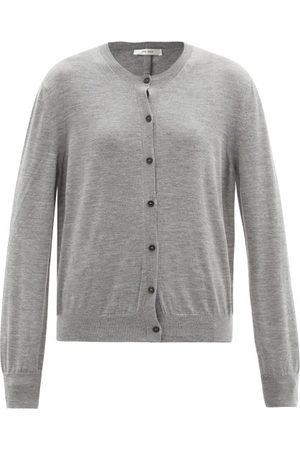 The Row Women Cardigans - Battersea Round-neck Cashmere Cardigan - Womens - Grey