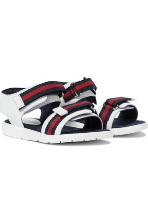 Gucci Web leather sandals