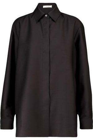 The Row Big Sisea wool and silk shirt