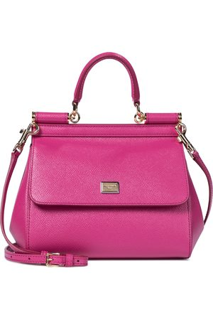 Dolce & Gabbana Sicily Dauphine Small leather tote