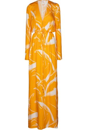 GALVAN Lido printed jersey maxi dress