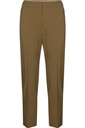 Chloé Cropped slim stretch-wool pants