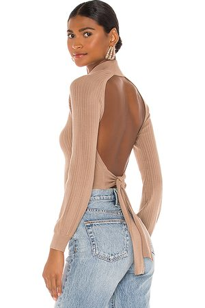 Michael Costello X REVOLVE Cropped Open Back Mock Neck in .