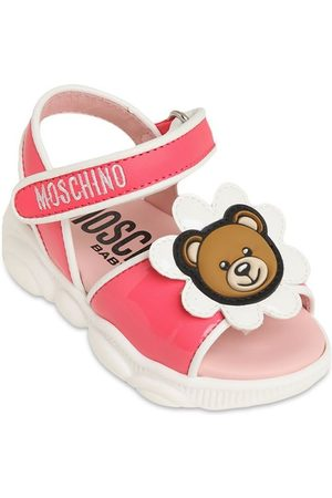 Moschino Leather Sandals W/ Daisy Bear