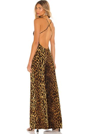Norma Kamali Women Jumpsuits - Low Back Slip Jumpsuit in Brown.