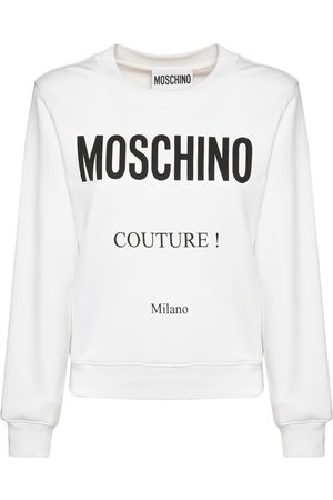 Moschino Couture Milano Logo Cotton Sweatshirt