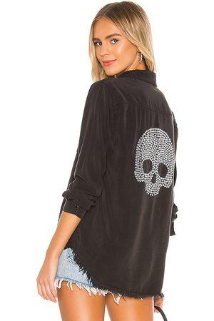LAUREN MOSHI Women Denim - Sloane Nailhead Skull Button Up Denim Shirt in .