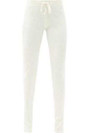 Reebok Drawstring-waist Ribbed-jersey Track Pants - Womens - Ivory