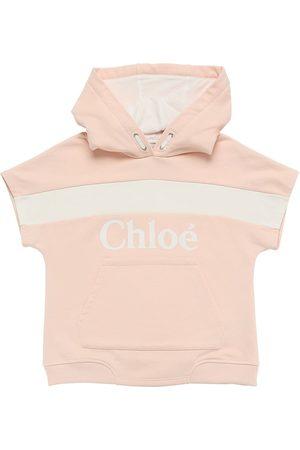 Chloé Logo Print Cotton Sweatshirt Hoodie