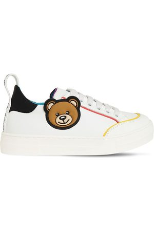 Moschino Lace-up Leather Sneakers