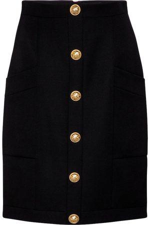 Balmain Wool skirt