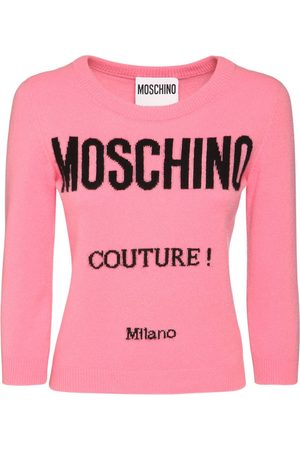 Moschino Logo Wool & Cashmere Knit Sweater
