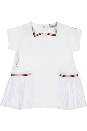 Moncler Cotton Dress W/ Logo Print