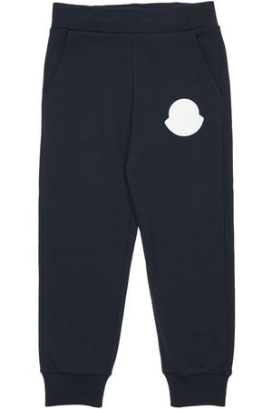 Moncler Cotton Sweatpants W/ Logo Patch
