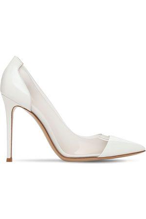 Gianvito Rossi Women Heels - 105mm Plexi & Patent Leather Pumps