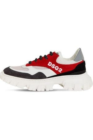 Dsquared2 Lace-up Leather & Neoprene Sneakers