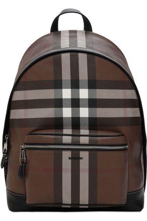 Burberry Jett Check E-canvas Backpack
