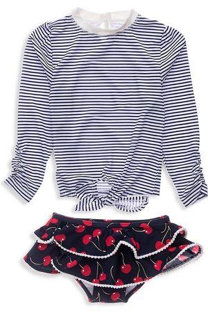 Snapper Rock Baby Girl's Ma Cheri Two-Piece Shirt & Ruffle Bottom Set - - Size 6-12 Months