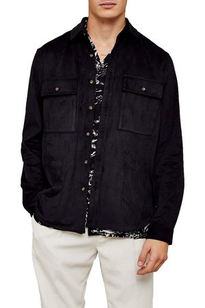 Topman Men's Slim Fit Faux Suede Shirt