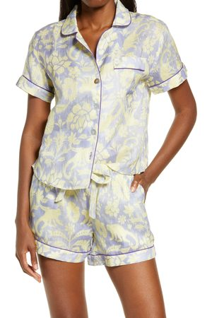 The Lazy Poet Women's Nina Linen Short Pajamas