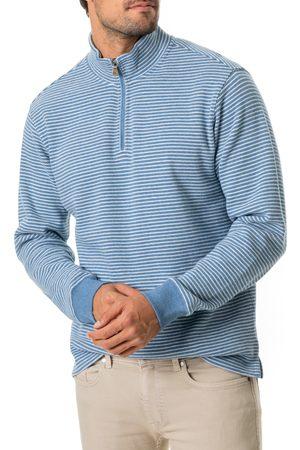 Rodd & Gunn Men's Riverlands Stripe Quarter Zip Pullover