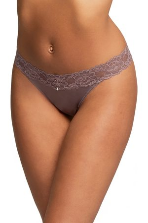 Montelle Intimates Women's Lace Thong