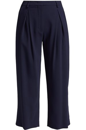 PIAZZA SEMPIONE Women's Fluid Stretch Cady Cropped Trousers - - Size 50 (14)